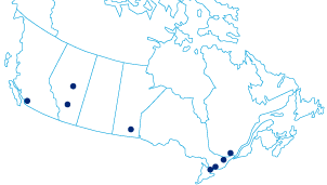 Hays Offices across Canada map  | Hays Specialist Recruitment